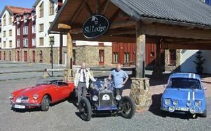 European Classic Car Weekend som arrangeras vid Romme Alpin lördag och söndag 7–8 sep. Nils Kronström (till vänster) och Bo Funcke (till höger) är arrangörerna. Foto: Nils Kronström