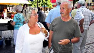 Irene och Martin Tiger stannar några timmar för ett stopp i Gävle centrum. De har varit på släktträff i Lycksele. Senaste stoppet innan Gävle var Järvsö där de övernattade.