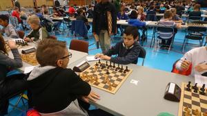Christopher Jernberg, silvermedaljör i klass E (förra 2005), på Skol-SM i schack.