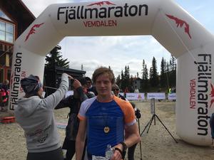 Vinnare i Herrklassen 44km,Johan Arnqvist från Uppsala.