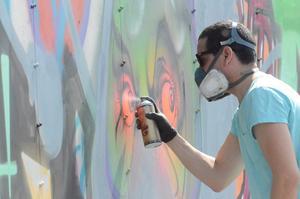 Landets bäste. Gouge är utsedd till Sveriges bästa graffitimålare och här växer konstverken fram.