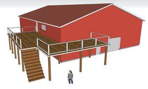 Här är en tidig skiss på hur byggnaden skulle kunna se u