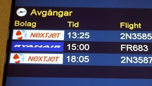 Västerås flygplats, Nextjet, avgångar, flygplatsen