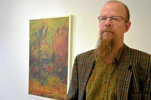 Konstnären John Franzén höll vernissage i Nora under lördagen.