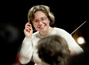 Eva Ollikainen vid sitt besök hos Nordiska Kammarorkestern 2007.
