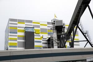 Anläggningen för avfallsförbränning vid kraftvärmeverket.