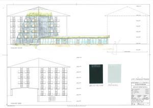 Hotellet blir sex våningar högt, med ungefär 60 rum. Fasaden kommer att bli svart och taket grönt, för att hålla det