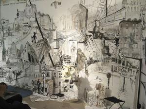 Galleri Se från Falun visar ett blandverk av den finska konstnärsgruppen Glädjemännen