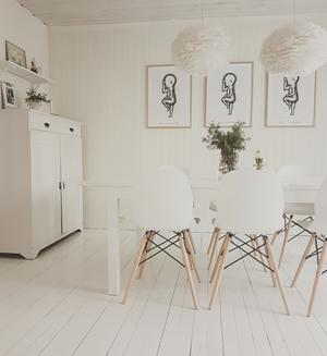 Elin Lundqvist Dalin har valt den vita färgen som bas i inredningen.