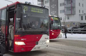 Busschaufförer i Hudiksvall tycker att deras vardag är relativt förskonad från hot och våld.