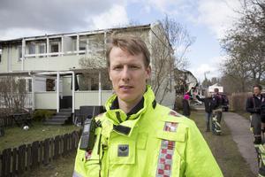 Johan kallin Stropp är räddningsledare på Gästrike Räddningstjänst i Sandviken.