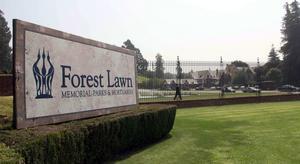 Forest Lawn Memorial Park i Los Angeles-förorten Glendale där popikonen Michael Jackson ska få sin sista vila.