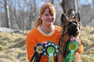 Lena är nyligen hemkommen från världens största utställning i Birmingham där Wilka kom på fjärde plats i sin klass.