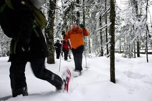 Tekniken att gå med snöskor är ganska lätt att lära sig.