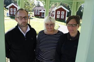 En trio som är nöjd med sommaren på Stenegård, Michael Angelryd, Märit Andersson och Maria Bremefors.