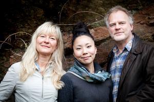Lena Willemark, Karin Nakagawa och Anders Jormin.