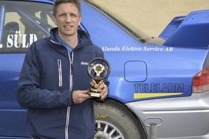 Joakim Süld från Östhammar totalvann rallyt.