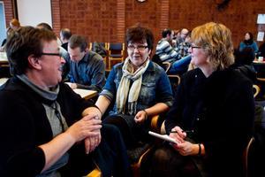 Barbro Sahlin, Anita Gustafsson och Åsa Bergstedt tycker att det hälsofrämjande projektet är bra.