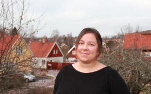 Sanna Åsbäck föredrar villan i Domnarvet och livet i Dalarna före lägenhet och stressig tillvaror i Stockholm. Foto: John Leander