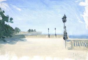 Anders Ståhl målar det han ser omkring sig oavsett om han befinner sig i Leksand, Spanien, Istanbul, Capri eller Paris.