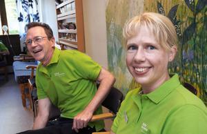 Håkan Blom, läkare och Kristina Billmark Elfstrand, vårdenhetschef.