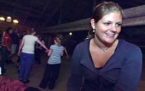 Petra Nilsson, 24 år, är en av de nio ungdomar som åkt ända från Malmö för att vara med under Hälsingehambon.