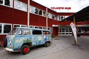 En gammal folkabuss från 1960-talet fanns med när CUF höll förbundsstämma i Östersund.
