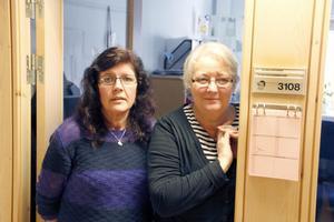 Carina Fredlund Nilsson, till vänster, och Ingrid Jonasson är flyktingsamordnare i Ljusdals kommun.