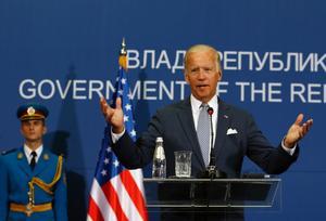 USA: vicepresident Joe Biden besöker Stockholm. Foto: Darko Vojinovic/AP