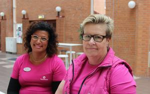 Lärarförbundet på plats på Högskolan Dalarna, Catarina Gehlin och Kristina Jernström.