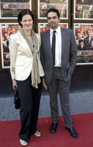 Anna Kinberg Batra med sin make David Batra.