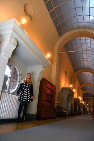Återigen en av de stora korridorerna som fångar Johannas intresse.