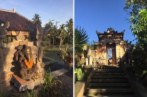 Religionen är fortfarande närvarande i vardagen, och gudarna ges gåvor i form av mat och blommor. Det genuina finns i klustret av byar runt om Ubud.