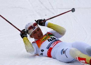 Anna Olsson tog ut sig på öppningsdistansen i VM.