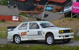 Jimmy Holmkvist var klart snabbast uppför den asfalterade backen i Kungsberget.