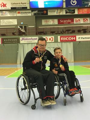 Peter Morelius och Isak Nyholm tog brons respektive guld i Para-SM i bordtennis.
