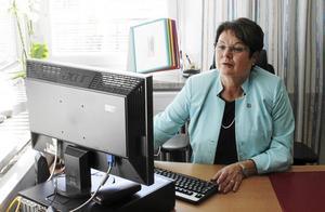 Leena Berglund kommer i snitt att arbeta en dag i veckan som stöd åt tillförordnade förbundschefen Henrik Junno. Arkivbild.