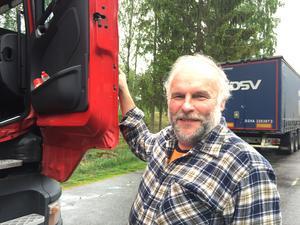Timo Toivonen var överlyckligt över att toaletterna på Råby rastplats hade öppnats igen.