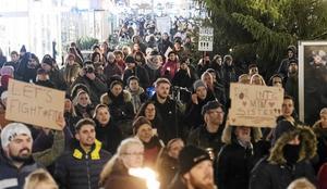 Demonstration i Malmö på tisdagen med anledning av den friande gruppvåldtäktsdomen.