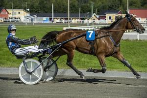 Trots en tuff bortre långsida i tredje spår tog Henrik Svensson en säker seger med Fredrik Laday.