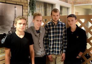 Markus Svensson, Gustav Flodmark, Simon Larsson och Andreas Goodholm