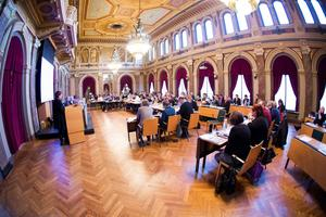 Kommunfullmäktige i Gävle. Bild från tidigare tillfälle.