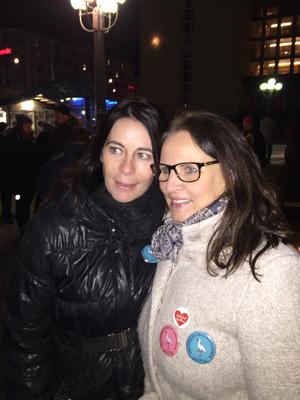 Marie Eriksson, till höger, fick stöd av förra Sollefteåbon Maria Eriksson.