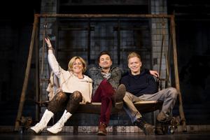 Ola Salo tillsammans med Gunilla Backman och Peter Johansson.