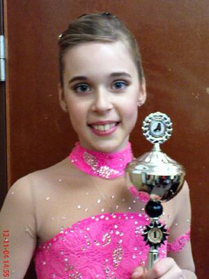Säteråkaren Lilly Almquist vann sin klass i tävlingen Gävlepiruetten.