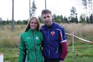 Segrarna Johanna Börjesson Eriksson och Joakim Ingelsson.