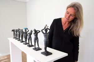 Eva Larsson på Galleri Astley, här med nya installationen