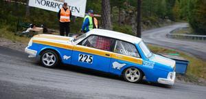 """Göran """"Zamora""""Lind på väg uppför Södra Berget i Sundsvall, på väg mot andraplatsen i riksmästerskapet."""