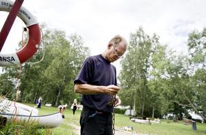 Avklippt. Kjell Dagheden har aldrig varit med om något liknande under sina tre år som kioskansvarig vid hästhagens kanotcentral.