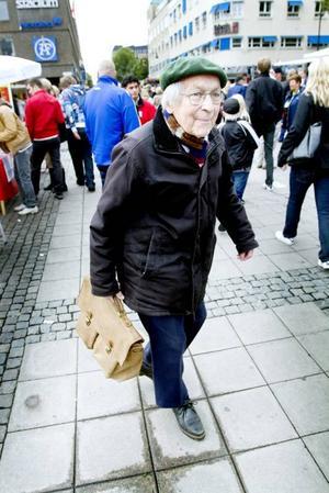 HAR BESTÄMT SIG. Thorild Dahlgren, 89 år, är gammal kärnkraftsmotståndare och inbiten miljöpartist.